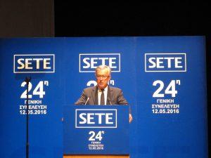 Ο πρόεδρος του ΣΕΤΕ Ανδρέας Ανδρεάδης / ksd photo